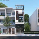Mẫu thiết kế nhà phố 3 tầng mặt tiền 3m hiện đại tại Hà Nội NP3T032