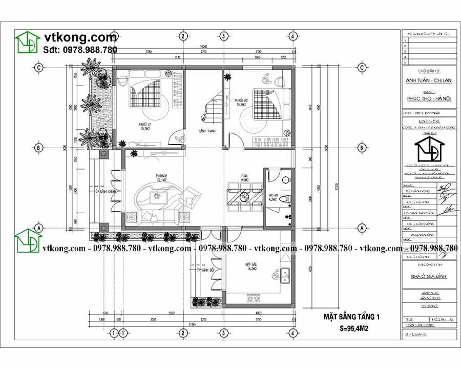 Biệt Thự 2 Tầng Mái Nhật 4 Phòng Ngủ 13x10m Hoành T