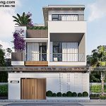 Mẫu biệt thự phố 3 tầng mái bằng 8x14m tráng lệ tại Quảng Ninh BT3T018